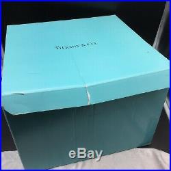 Tiffany White Italian Cake Plate Wreath Garland Pedestal Ceramic with Box