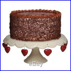 Tumbleweed Cake Pedestal with Charms, Cupcake Stand And Stand, White Plate