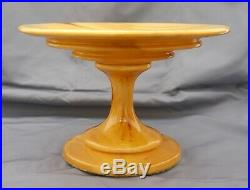 Turned ASPEN WOOD Pedestal Cake Plate Server by Bacon Wood Arts Studio. 9.6 D