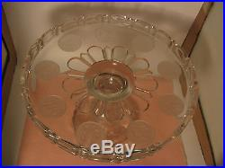 U. S. Coin Cake Pedestal Plate / Central Glass