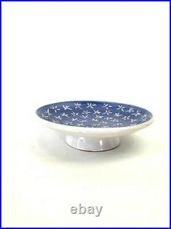Upsala Ekeby'Star' Pedestal Cake Cookie Plate Ingrid Atterberg Swedish Pottery