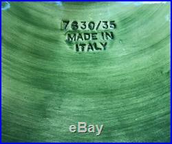 VIETRI Green Leaf FOGLIA PEDESTAL 13 CAKE PLATE PLATTER Made In Italy