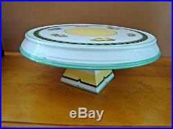 VILLEROY BOCH FRENCH GARDEN CHARM FLEURENCE PEDESTAL CAKE PLATE 14 1/2 x 5 7/8