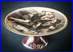 VINTAGE JKW BAVARIA GERMANY PORCELAIN PEDESTAL CAKE STAND PLATE ARDALT No 9004