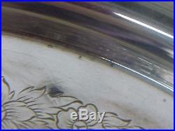 Vintage Wilcox International Ornate Silver Plate Pedestal Cake Stand
