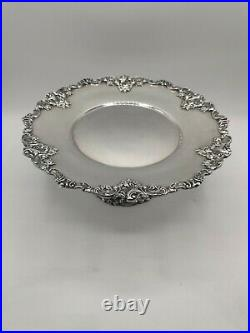 VTG Baroque By Wallace Silver Plate Cake Plate Pedestal Stand Bridal Wedding 10