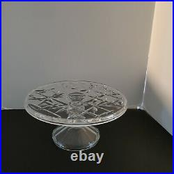 VTG Cake Plate with pedestal Bamboo branches design pattern. Free shipping