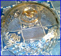 Very Heavy Glass Cake Stand Dome Display Pedestal Plate 2 Piece Dessert Server