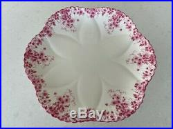 Very Rare Shelley Dainty Pink Pedestal Cake Plate Cookie Tray Mint Condition 7