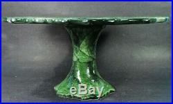 Vietri Foglia Pedestal Cake Plate / Platter (mint)