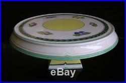 Villeroy & Boch French Garden Fleurence Pedestal Cake Stand Plate Large 13