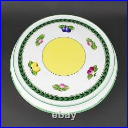 Villeroy & Boch French Garden Fleurence Pedestal Cake Stand Plate Large 14 1/2
