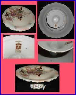 Vintage 12 Schumann Arzberg German Bavaria Rose Pedestal Cake Stand Plate Mint