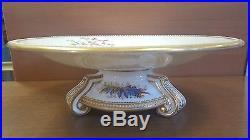Vintage 1876 Royal Worcester Bird Pedestal Raised Cake Desert Plate #Pl2