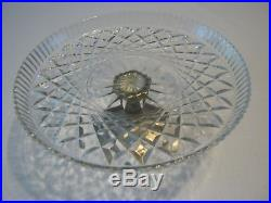 Vintage 1960's Teleflora Silver Plated Pedestal With Crystal-Glass Cake Plate