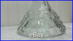 Vintage AMERICAN FOSTORIA Glass Square Pedestal Cake Plate Stand with Rum Well