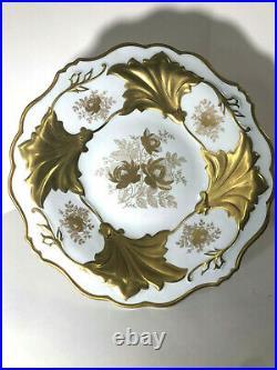 Vintage Beautiful Porcelain Echt Weimar Gold Jutta 328 66 Pedestal Cake Stand