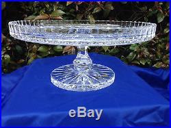 Vintage Bohemia Queen Lace Pedestal 24% Lead Crystal Cake Plate 11 Mint Nib