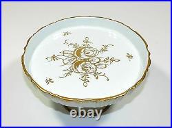 Vintage Cake Plate Footed Pedestal Porcelain France