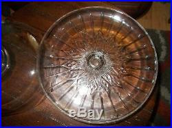 Vintage Clear Glass 12 Cake Plate with Heavy Dome Cover on Pedestal Base/Stand