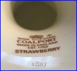 Vintage Coalport, England Strawberry Scalloped Edge Pedestal Cake Plate Mint