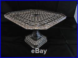 Vintage Diamond Glass Co. Eapg Pedestal Cake Plate 1883 Pattern