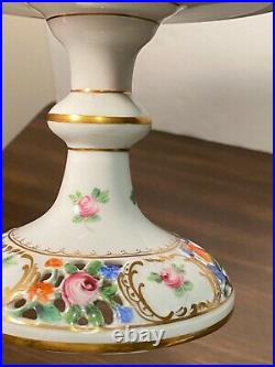 Vintage Dresden Carl Thieme Pedestal Cake Plate Compote Stand Reticulated RARE