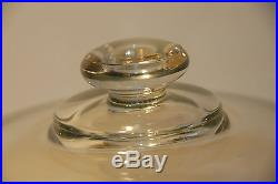 Vintage Federal Glass Windsor Clear Glass Cake Plate Button Covered Pedestal