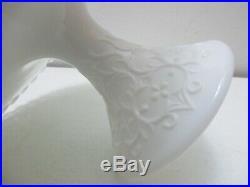 Vintage Fenton Glass Pedestal Cake Plate Silver Crest Spanish Lace 11 D
