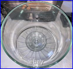 Vintage Glass 13 Cake Plate with Heavy Dome Cover Pedestal Base Punch Bowl
