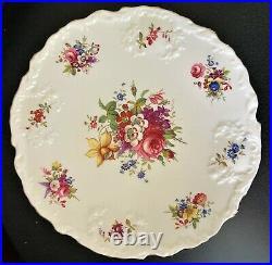 Vintage Hammersley England Minuet Howard Sprays Pedestal Cake Plate Server