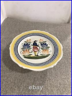 Vintage Henroit Quimper France Pedestal Cake Plate/platter