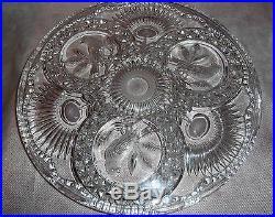 Vintage Hofbauer Crystal Collection Cake Plate Pedestal Stand Birds Byrdes