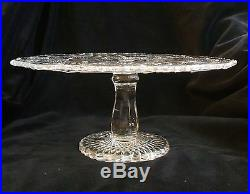 Vintage Imperial Glass Fashion Pattern Clear Glass Footed Pedestal Cake Plate