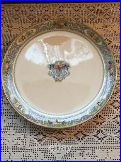 Vintage Lenox The Autumn Footed Plate 10 1/2 Cake Pedestal Plate Preowned
