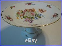 Vintage Limoges Made in France Pedestal Cake Plate Stand