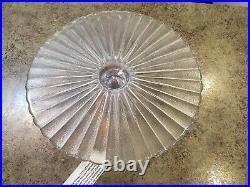 Vintage Mid-Century Modern IITTALA Finland Glass Pedestal Cake Plate 12