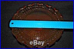 Vintage Pink Depression Glass 3 Tier Pedestal Cake Plates Circular Fluted Vine