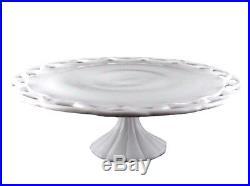 Vintage Pitman Dreitzer Colony 14 Lace Milk Glass Pedestal Cake Plate Stand