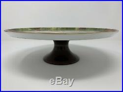 Vintage ROCHARD LIMOGES Still Life Fruit Pedestal Cake Plate Stand Excellent