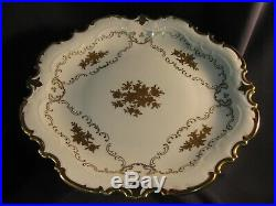 Vintage Reichenbach Porcelain China Pedestal Cake Shallow Plate Very Wonderful