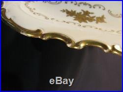 Vintage Reichenbach Porcelain China Pedestal Cake Shallow Plate Very Wonderful