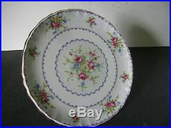 Vintage Royal Albert pedestal cake plate in Petit Point a rare find