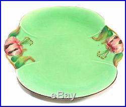 Vintage Royal Winton Grimwades Tiger Lily Pedestal Cake Plate Tidbit Dish