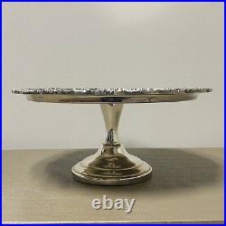 Vintage Silverplate Footed Pedestal Cake Plate