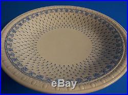Vintage Spode Copeland Ermine Blue Pedestal Cake Plate