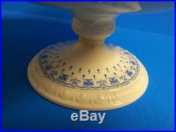 Vintage Spode Copeland Ermine Blue Pedestal Porcelain Cake Plate