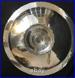 Vintage Sterling Silver Mexico Tazza / Pedestal Cake Stand Plate 1122g 2.47 LBS
