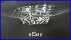 Vintage Steuben Crystal Low Pedestal Cake Plate / Serving Tray