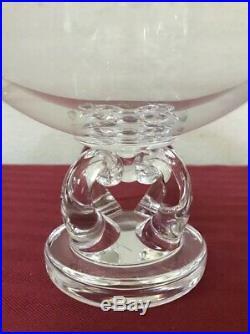Vintage Steuben Crystal Pedestal Low Bowl Serving Plate Cakes/Cookies Signed 10